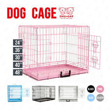 Folding Dog Cage Puppy Crate Metal Training Pet Carrier Playpen 5 Size 4 Colours