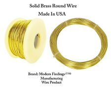 Brass Round Wire (Dead Soft ) 1/4 Lb. - Choose Gauge 12 To 26  / Spool or Coil