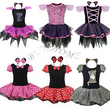 Halloween Minnie Mouse Ballet Girls Xmas Dress Costume Princess Party Birthday