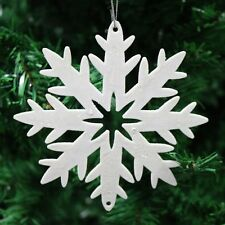 Pack of 3 Festive Star Snowflake Christmas Tree Hanging Pendant Decorations