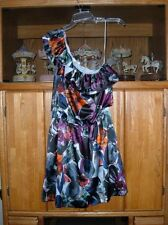 LC LAUREN CONRAD FLORAL ASYMMETRICAL ONE~SHOULDER DRESS SIZE 2,6,16;NEW & NWT