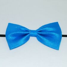 BLUE Bow Tie Fancy Dress Costume Kids Adult World Book Day Stage Elasticated