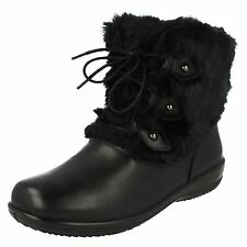 PADDERS LADIES KIM LEATHER LOW CALF FUR TRIM CASUAL LACEUP EE/EEE WIDE FIT BOOTS