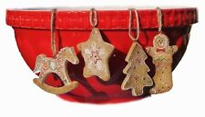 Gisela Graham Glitter Gingerbread Christmas Tree Star Stocking Decoration