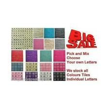 PLASTIC/WOODEN LETTERS SCRABBLE TILES black letters - PICK AND MIX FROM 3-1000