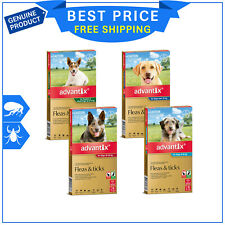 Advantix Flea and Tick Treatment for Dogs All Sizes 6 Pipettes + FREE 2 Pipettes