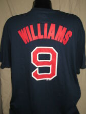 MLB Boston Red Sox Ted Williams #9 Jersey T-shirt Mens Sizes Majestic Nwt