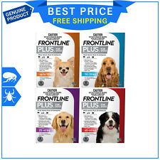 Frontline Plus Flea & Tick Treatment All sizes for Dogs 6 Pipettes + 1 FREE