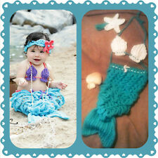 Baby Mermaid Outfit, crochet, halloween, costume, photo, prop set, shower gift C