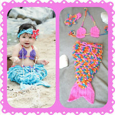 Baby Mermaid Outfit, crochet, halloween, costume, photo, prop set, shower gift D