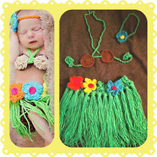 Baby Hula Outfit, crochet, halloween, costume, photo, prop set, shower gift
