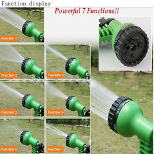 Deluxe 25 50 75 100 Feet Expandable Flexible Garden Water Hose + Spray Nozzle BL