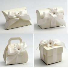Luxury DIY Wedding Party Favour Gift Sweet Boxes - Ardesia Cream Range