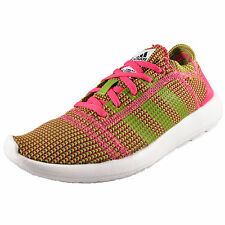 Adidas Womens Girls Element Refine Tricot Running Gym Trainers Pink AUTHENTIC