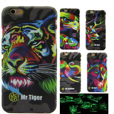 Animal Pattern Hard Back Cover Case Luminous Glow In The Dark For iPhone 6 6s