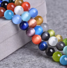 4/6/8/10mm Wholesale Mixed Cat Eye Gemstone Round Loose Bead Jewelry Finding