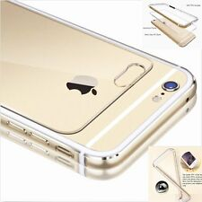 Aluminum Metal Silicone Bumper Clear Back Case Cover Shell for iPhone 6 6s Plus