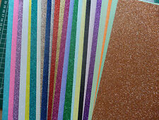 10 x A4 sheets quality Low Shed Glitter card - you choose colour pack- 250 gsm