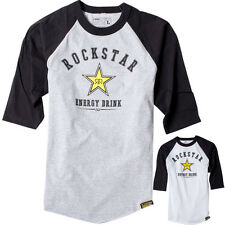 Factory Effex Official Rockstar All-star Mens Three Quarter Sleeve Baseball T-Sh