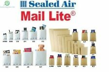 ALL SIZES - MAIL LITE PADDED BUBBLE ENVELOPES CHEAP BAGS - A - K - WHITE & GOLD