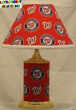 MLB WASHINGTON NATIONALS MATCHING LAMP & SHADE SET! SHIPS WITHIN 24 - 48 HOURS!