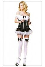 Super 3PC Boudoir French Maids Quality Costume Inc Dress, Stockings, Duster Sexy