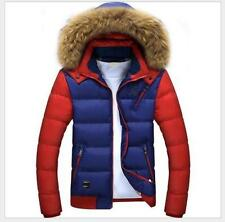 Men Warm Fur Collar Hooded Parka Winter Thicken Down Coat Outwear Down Jacket