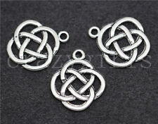 Lot 10/50/260pcs Tibetan Silver Celtic Knot Circular Charms Pendants DIY 21x18mm