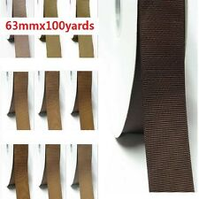 """Grosgrain Ribbon 2.5"""" /63mm Wholesale 100 Yards, Discount Ivory to Brown color"""