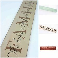 New Heaven Sends Wood Large Wall Plaque Sign, Beige Red Blue Shabby Chic Vintage