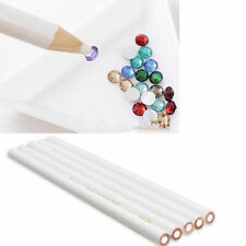 New Gem Crystal Rhinestones Picker Pencil Nail Art Craft Tool Wax White Lot Bulk
