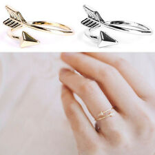 1/5 PCS Women Girl Gold Silver Fashion Adjustable Arrow Open Knuckle Rings HQ TH