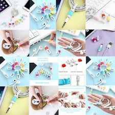 Silicone Rubber Fish Bone Headphone Earphone Cord Cable Winder Management