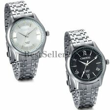 Men's Dress Stainless Steel Band Roman Dial Luminous Quartz Analog Wrist Watch