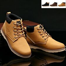 New Mens Winter warm shoes Fashion England retro Combat High top ankle boots A80