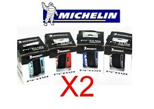 Lot 2 MICHELIN PRO 4 Service Race pair 700 x 23 black red blue road tires