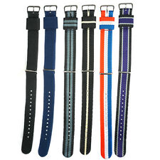 Nylon Watch Strap 20mm 22mm Watch Band Stripe Fiber Fabric Mens for Watches