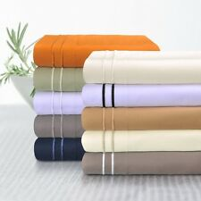 Luxor 800-TC Egyptian Cotton 2-Line Embroidered Bed Sheet Set Deep Pocket Sheets