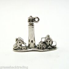 CAPE MAY NJ LIGHTHOUSE Solid Sterling Silver Pendant Charm w/ Options 1957