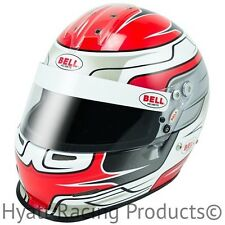 Bell GP.2 Red Wing Auto Racing Helmet SA2010 & FIA8858 - 6 3/4 (54)