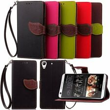 NEW Leaf Magnetic Wallet Card Flip Leather Case Cover For HTC Desire 626 520