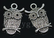 6/30/150pcs Tibetan Silver exquisite owl Alloy Jewelry Charms Pendant 23x15mm