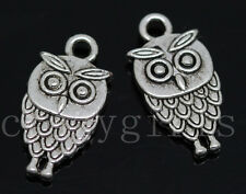 15/60/300pcs Tibetan Silver Lovely owl Alloy Jewelry Charms Pendant DIY 18x9mm