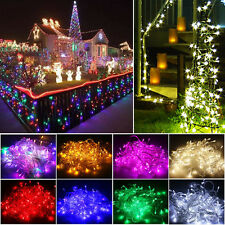10M 100 LED Bulbs Christmas Fairy Party Wedding String Lights In/Outdoor Garden
