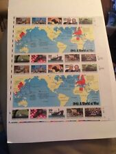 US Postage Stamp FULL Sheet WWII 1941 A WORLD AT WAR (20) 29 cents Mint 1991 MNH