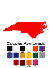 North Carolina State Decal Diecut Sticker Self Adhesive Vinyl