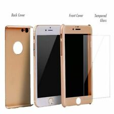 iPhone 6 6s 7 & 7 Plus 360° Full Body Protective Hard Case with Tempered Glass