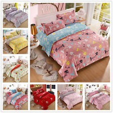 Elephant Pattern Double Queen King Size Bed Set Pillowcase Quilt Duvet Cover NEW
