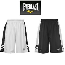 EVERLAST Mens Basketball Training Shorts BLACK WHITE Bronx SIZE S M L XL XXL