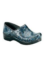 Dansko Professional Clog Silver/Blue Tooled Women's Sizes 36-42/6-12 NEW!!